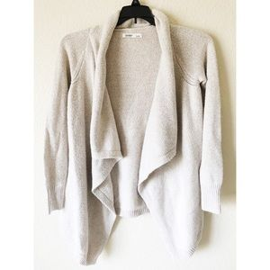 Old navy grey cream large cardigan